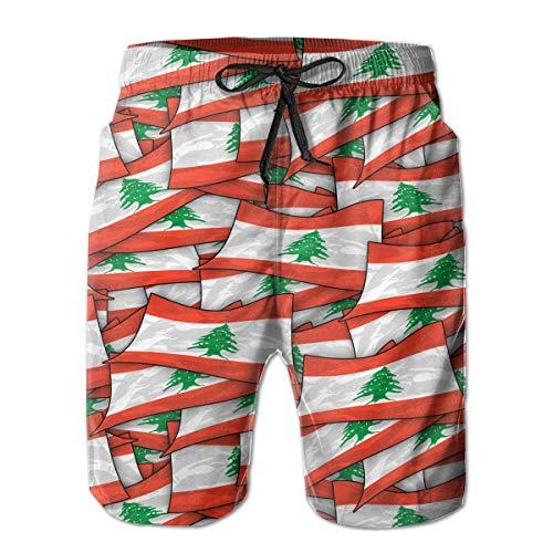 Wusond - Bañador para hombre, diseño de flag Wave ver imagen L