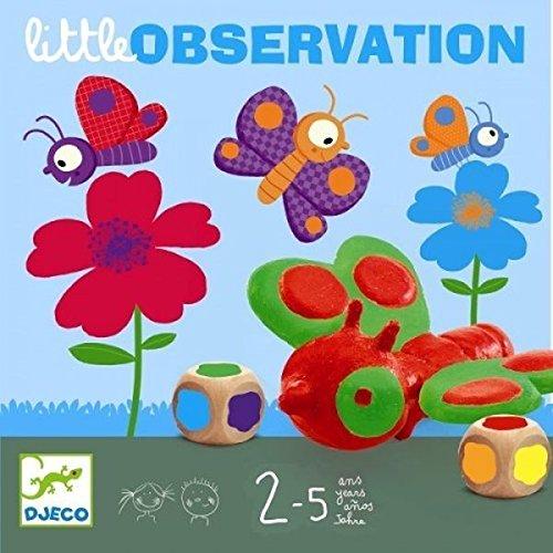 Djeco Jeu Little Observation, Jeux d'action et Reflets, Jeux éducatifs, Multicolores (15)