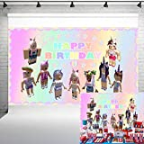 Video Game Party Supplies Backdrop for Girls Birthday Party Cake Table Decoration Banner 5x3ft Sandbox Game Party Decoration Photography Background Photo Studio Props HL-18