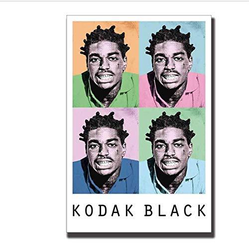 A&D Kunstplakat Kodak Black Hip Hop Trap Rapper Leinwand Drucken Wandbilder Wohnzimmer Drucken auf Leinwand -50x70cmx1pcs -No Frame