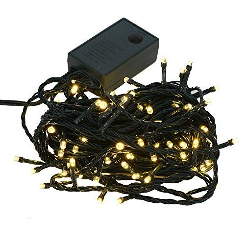【シャンパンゴールド】イルミネーション LED クリスマスライト 屋内 100球 点灯パターン記憶メモリー付 連結可