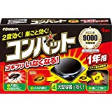 KINCHO コンバット ゴキブリ殺虫剤 大型容器 1年用 4個入×4個