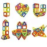 Coodoo Bloques magnéticos de construcción de bloques de juguetes educativos para niños pequeños con ruedas de coche