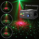 DJ Laser Lights SUNY Music Laser Projector 40 Patterns RG Stage Lighting Blue LED Remote Control Red Green Sound Activated Xmas Party Indoor Family Wedding Decoration Carnival Holiday Bar Disco Show