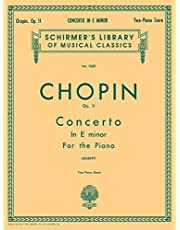 Concerto No. 1 in E Minor, Op. 11: National Federation of Music Clubs 2014-2016 Selection Piano Duet: Schirmer Library of Classics Volume 1350 Piano Duet