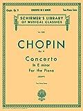 Concerto No. 1 in E Minor, Op. 11: Schirmer Library of Classics Volume 1350 Piano Duet