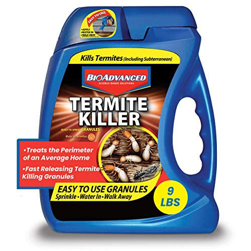 BioAdvanced Termite Killer, Insect Killer for Outdoors, 9-Pounds, Ready-to-Spread Granules 700350A
