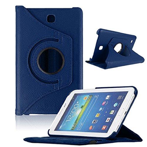 Bocideal Funda para tablet Samsung Galaxy Tab4 de 7 pulgadas, T230 giratoria 360 (azul oscuro))