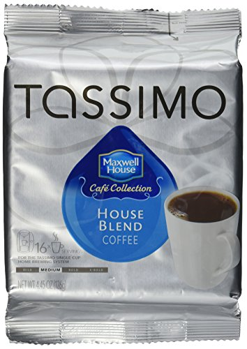 Tassimo Maxwell House Cafe Collection House Blend Coffee 16 T-Discs, 3-Pack (48 T-Discs)