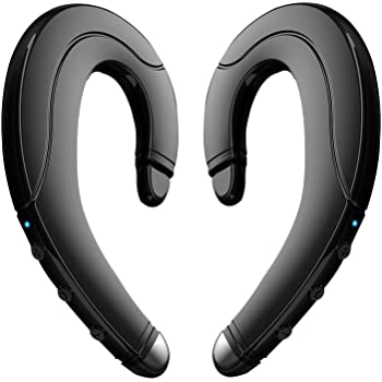 Amazon Com Bluetooth Headphones Non Ear Plug 2018 New True Wireless Earbuds Noise Cancelling Handsfree Headset With Microphone For Iphone And Android Smart Phones