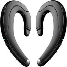 Bluetooth Headphones Non Ear Plug, New True Wireless Earbuds Noise Cancelling Handsfree Headset Ear-Hook Wireless Headphones with Microphone for iPhone and Android Smart Phones