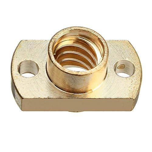 YBINGA Paso controlador de motor latón T8 plomo tornillo tuerca 2 unids paso 2mm para motor paso a paso 3D impresora parte 3D piezas de repuesto