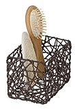 WENKO Cesta de baño Curly marrón - cesta para el baño, Celulosa, 15 x 11 x 10.5 cm, Marrón