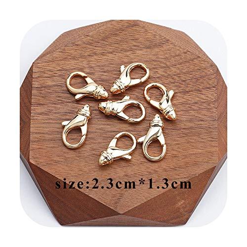 who-care M723, accesorios de joyería, chapado en oro de 18 quilates, 0,3 micras, conector, collar de cadena de bricolaje, abalorios, fabricación de joyas, 10 piezas/Lot-M72310