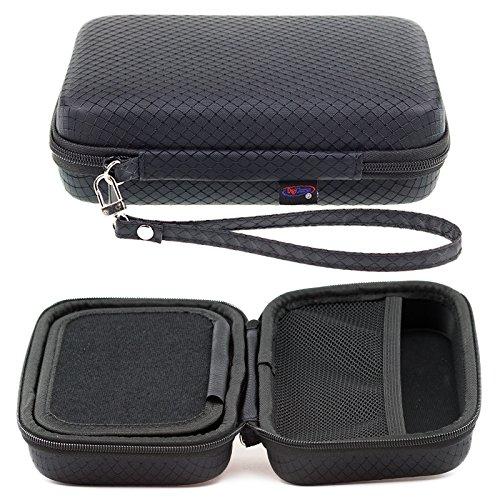 Digicharge Schwarzes Hartschalentasche Navi-Tasche für Navman S50 S70 S80 S90i GPS mit Tragegurt und Zubehörfach