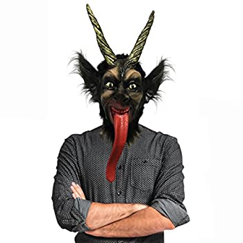Off the Wall Toys Holiday Christmas Krampus Mask Black Gold