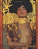 Gustav Klimt Agenda Mensile 2021: Giuditta I | Inizia Ora e Dura Fino Dicembre 2021 | Jugendstil Art Nouveau | Arte d'Oro | Pianificatore Settimanale 2021 (12 Mesi)
