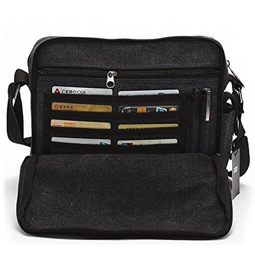 10. Topfox Men's Multifunctional Canvas Messenger Handbag
