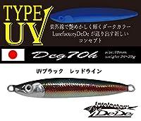 TYPE UV Deg70H マイラーチューブ UVブラック・レッドライン