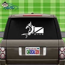 Car Decal Geek Hammerhead Shark Scuba Vinyl Decal Sticker Bumper Cling for Car Truck Window Laptop MacBook Wall Cooler Tumbler | Die-Cut/No Background | Multi Sizes/Colors Blue, 8