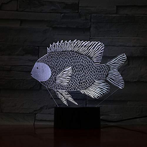 3D LED-Beleuchtungslampe Meerestierhai Quallen Fisch Delphin Hauptdekorationslampe LED RGB Farbwechsel Visuelles Nachtlicht