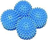 Palle Asciugatrici – Riutilizzabili Resistenti Palle per Bucato e Asciugatrice - Funzione Ammorbidente Naturale e Antistatica - Velocizza Asciugatura - Garantite Fino a 1400 Cicli di Lavaggio 4 PCS