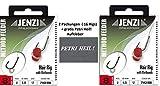 SET: 2 Packung ( 16 Rigs) Method Feeder Hair Rig mit Gummi Band, Durchmesser 0,25 mm Hakengröße 8, Länge 12 cm +gratis Petri Heil! Aufkleber