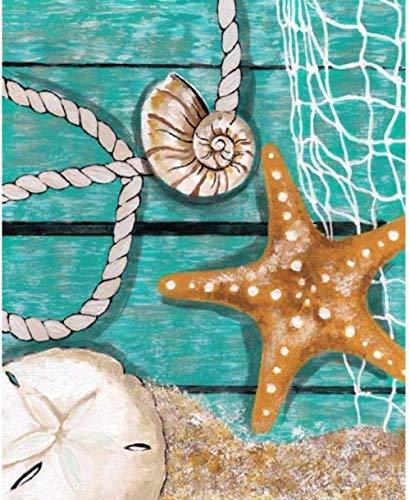 GCHHJY Mosaikproduktion 5D Diamond Painting Painting Kit für Erwachsene und Kinder Full Round Diamond Diamond Painting Kreuzstich Kunsthandwerk für Wanddekorationen zu Hause Ocean Star 40 * 50CM