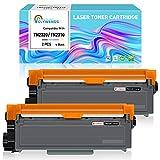 Clywenss TN2320 TN2310 Cartucho de Tóner Compatible con Brother TN-2320 TN-2310 Negro para Brother MFC-L2700DW L2700DN HL-L2300D HL-L2360DN HL-L2340DW L2720DW L2520DW L2500DW L256560DW (2 Negro)