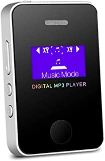 MP3 Player Speaker 1.1 Inch Screen Sports Digital Compact and Portable Mini MP3 Max Support 16GB Micro SD Card with Charge...