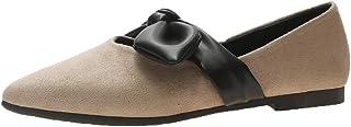 Flats Shoes Women Comfortable-NEEKEY Fashion Casual Bow Flats, Irregular Shallow Mouth Student Shoes