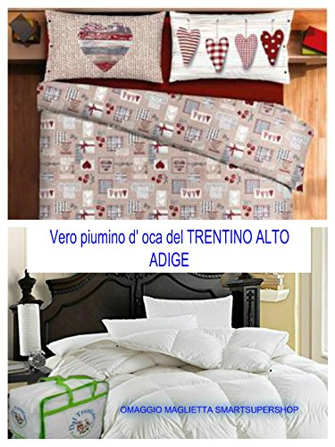 BLACK FRIDAY ANGEBOT FÜR GIORNEN !!! Der Überwurf für Doppelbett, hergestellt in Italien, für Haus von SMARTSUPERSHOP + Bettbezug für Doppelbett TIROLO CORTINA - -