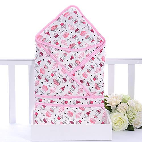 Manta de muselina para bebé, manta unisex para recibir para niños y niñas recién nacidos, transpirable, 100% algodón recién nacido (helado, 80 x 80 cm)