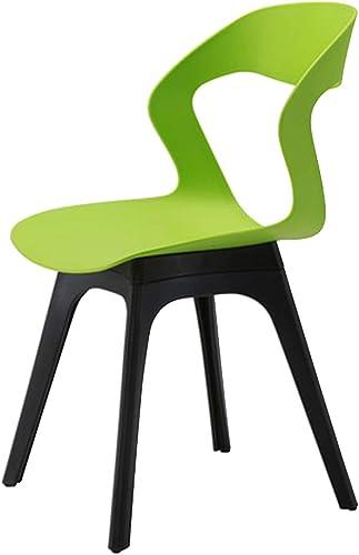 Con 100% de calidad y servicio de% 100. Bseack_Store Silla Silla Moderna Simplicidad Fácil Montaje Montaje Montaje Diseño ergonómico Restaurante Sala de Estudio (Color   verde)  presentando toda la última moda de la calle