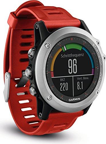 Garmin fenix 3 GPS-Multisportuhr, Smartwatch-, Navigations- und Sportfunktionen, GPS/GLONASS, 1,2 Zoll (3 cm) Farbdisplay, 010-01338-16
