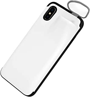 ErYao 2 in 1 Phone Case for iPhone Xs Max Case and for AirPods, Silicone Gel Rubber Cse for iPhone Xs Max with Wireless Headset Set Protection, Slim Rubber Protective Phone Case Cover