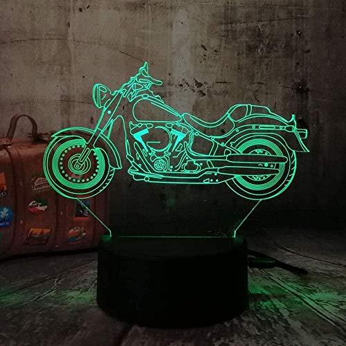 ilusión 3D LED Luz nocturna Fuente Moto Pedal para hombres, mujeres, niños, niñas, regalo Con interfaz USB, cambio de color colorido