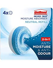 UniBond AERO 360 Degree Moisture Absorber Neutral Refill Tab, Ultra-Absorbent and Odour-Neutralising for AERO 360 Degree Dehumidifier, Condensation Absorbers, Pack of 4 (4 x 450 g)