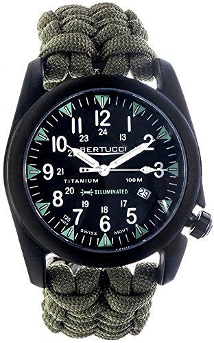 Bertucci 13423 Ladies Black Nylon Strap Reloj analógico de Cuarzo analógico Negro