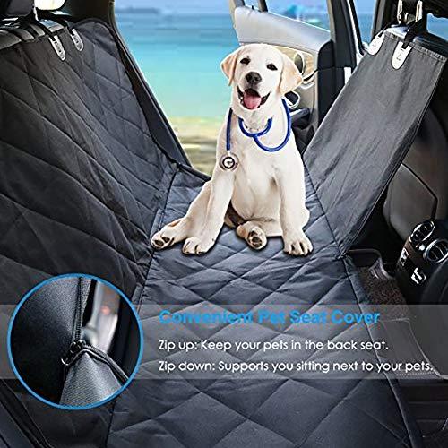 Cubierta de asiento de coche a prueba de agua para gato perro protector Mat seguridad trasera viaje negro