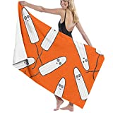 Luxury Bath Towels Hand Towels for Home, Hotel, Spa, Beach Salon - Kawaii Tampons Orange Towels, Ultra Soft Shower & Bath Towel Extra Large Highly Absorbent Towel