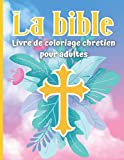 La bible Livre de Coloriage Chretiens pour Adultes: 22 dessins à colorier d'histoires bibliques | Adultes et enfants de plus de 12 ans | Format 21,59 x 27,94 cm