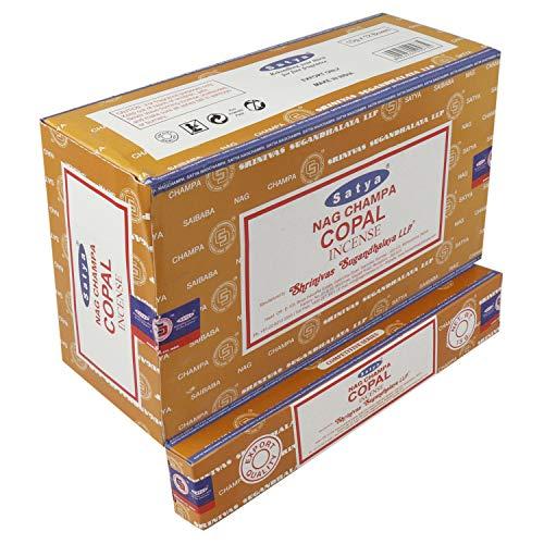 SATYA Incienso Copal 15 GR. X 12 Cajas = 180 GR.