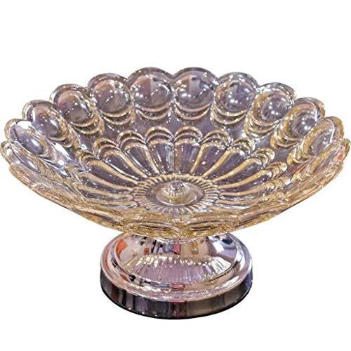 Fruitschaal kristal glazen vruchtenslakom, woonkamer-droogvruchten-not-tray, Dim Sum Candy Dish Europese stijl
