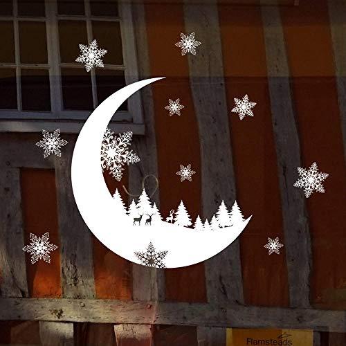 QULIN Xueyue etiqueta de la pared estática de cristal de la ventana de Navidad DIY etiqueta engomada del hogar decoración de Navidad Año Nuevo