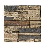 Faux Stone Wall Panel Sample - Veneer Stacked Stone Wall Siding -...