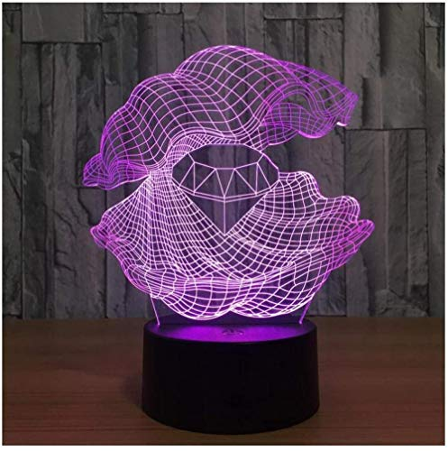 YOUPING Luz de noche LED para niños Novedad Interruptor de toque remoto Led 3D Accesorios de luz de guardería Niños Luces Lámparas Mini Led 3D Luz de noche