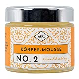 Körper-Mousse reichhaltig NO. 2 mit Sheabutter, Mandel- und Jojobaöl, fruchtiger Orangenduft, vegan, 100 ml, Glastiegel