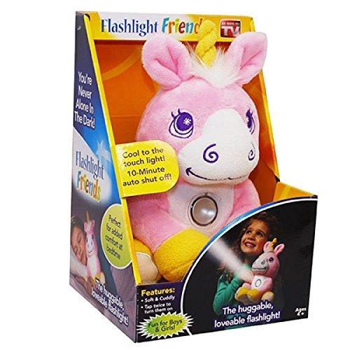 Flashlight Friends - The Huggable Loveable Childs Flash Light Pink Unicorn