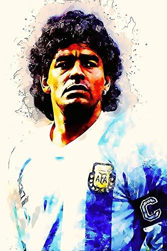 Elliot Dorothy Póster de Diego Maradona Argentina para decoración de pared, 50,8 x 76,2 cm, para dormitorio infantil, sin marco